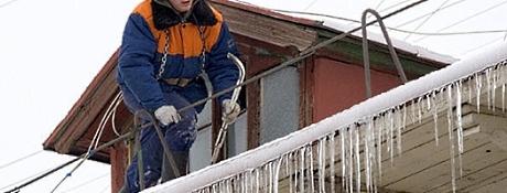 Очистка крыш от снега в Одессе