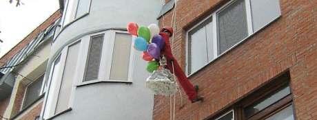 Оригинальное поздравление через окно в Одессе