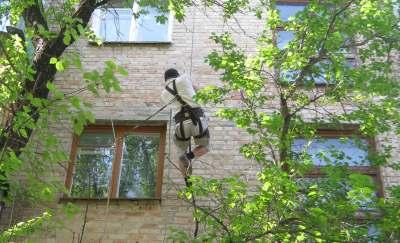 Монтаж антенн, кондиционеров, кабеля  заземления и молнезащиты по фасаду  в Одессе