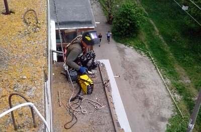 Ремонт балконных козырьков в Одессе